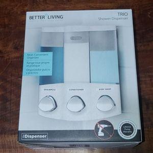 Better Living Trio Shower Dispenser